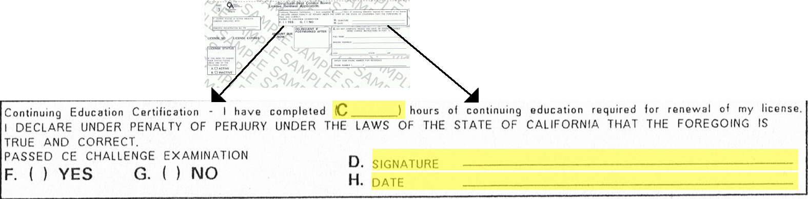 Image of the Renewal Form